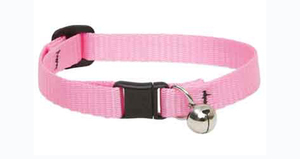 Lupine Cat Collar Pink With Bell  1/2 Basics 1pc