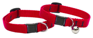 Lupine Cat Collar Red With Bell  1/2 Basics 1pc