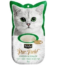 Kit Cat Purr Puree Chicken & Scallop 4x15g