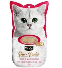 Kit Cat Purr Puree Tuna & Smoked Fish 4x15g