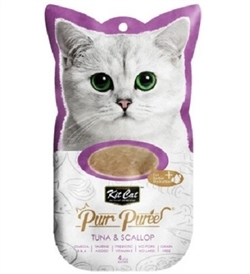 Kit Cat Purr Puree Tuna & Scallop 4x15g
