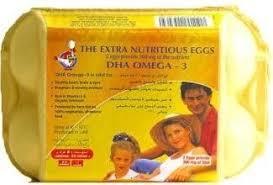 Jenan Dha Jenan White/Brown Omega 3 Egg Medium 15s