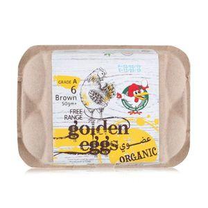 Al Jazira Organic Golden Brown Eggs Free Range 6pcs