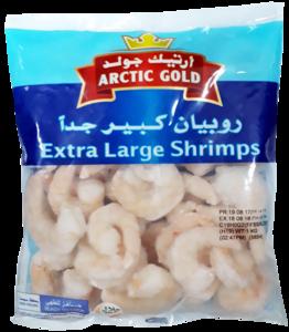 Arctic Gold Extra Large Uncooked Shrimps 1kg