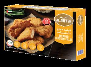 Al Areesh Chicken Breaded Fillet 2x330g