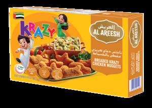 Al Areesh Krazy Chicken Nuggets Plain 2x500g
