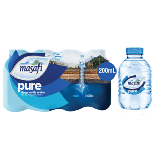 Masafi Pure Natural Water Low Sodium Shrink Wrap 12x200ml