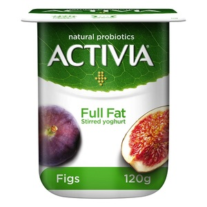 Activia Stirred Fig Full Fat Yoghurt 120g