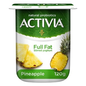 Activia Pineapple Full Fat Stirred Yoghurt 120g