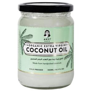 Anvi Earth Organic Extra Virgin Coconut Oil 12x500ml