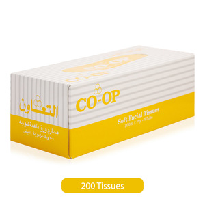 Co-op Soft Facial White Tissues 200pc