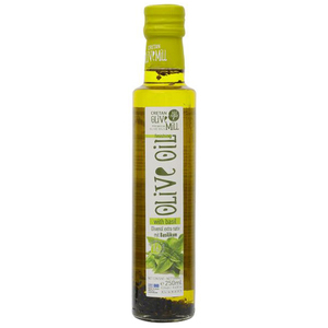 Cretan Olive Mill Extra Virgin Olive Oil Refined With Basil 250ml