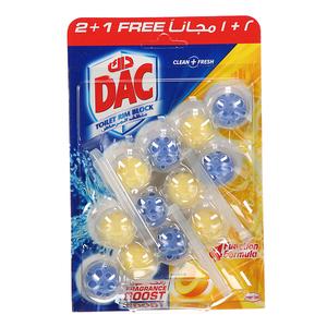 Dac Toilet Cleaner Power Lemon 3x50g