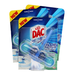 Dac Toilet Cleaner Blue Active 3x50g