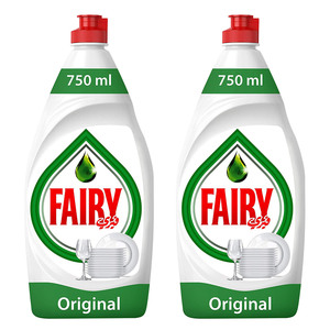 Fairy Original Dish Washing Liquid Soap 2x750ml