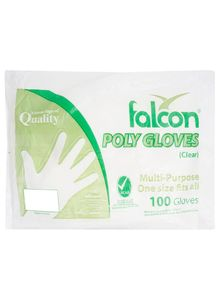 Falcon Gloves Plastic 100s