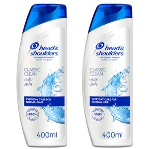 Head & Shoulders Classic Clean Anti-Dandruff Shampoo Dual Pack 400ml