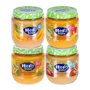 Hero Baby Assorted Fruit Jar 4x125g