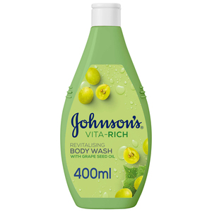 Johnson's Body Wash Vita-Rich Revitalising Grape Seed Oil 400ml