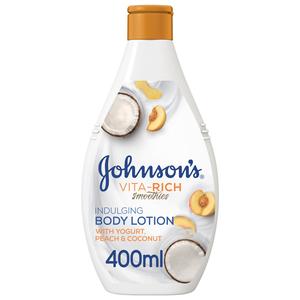 Johnson's Body Lotion Vita-Rich Smoothies Indulging Yogurt Peach & Coconut 400ml