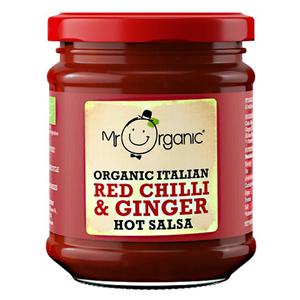 Mr Organic Hot Chili And Ginger Salsa 6x200g