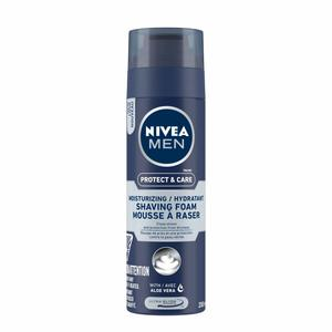 Nivea Men Deep Smooth Shave Shaving Foam Antibacterial Black Carbon 200ml
