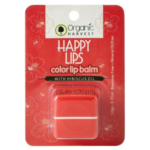 Organic Harvest Happy Lips Color Lip Balm Hibiscus 10g
