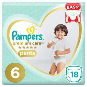 Pampers Premium Care Pants Diapers Size 6 Extra Large >16Kg Carry Pack 18 pcs