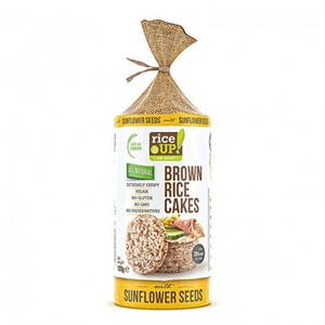Rice Up Gluten Free Brown Rice Cakes With Sunflower Seeds 120g