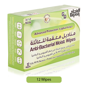 Union Advanced Protection Anti Bacterial Moist Wipes 12s