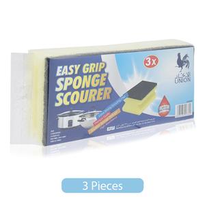 Union Easy Grip Sponge Scourer 3pc