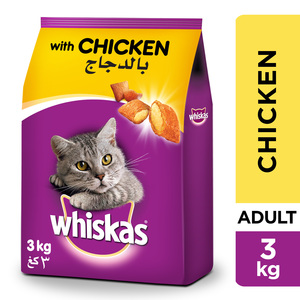 Whiskas Chicken Dry Cat Food Adult 1+ years 3kg