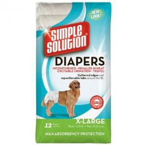 Simple Solution Disposable Diapers Medium 12ct