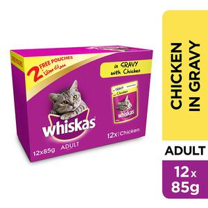 Whiskas Tender Bites Chicken in Gravy Wet Cat Food Pouch 12x85g