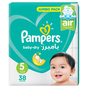 Pampers Baby Diapers Size 5 38s
