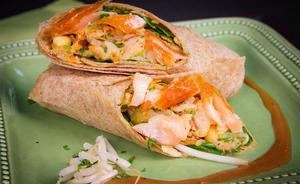 Thai Salmon Wrap 1 serving