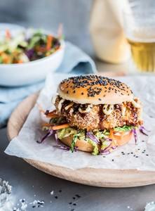 Chicken Katsu Burger 1 serving