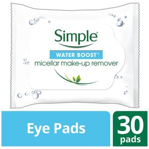 Simple Water Boost Eye Makeup Remover Eye Pads 30pcs