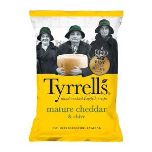 Tyrrells Chips Mature Cheddar And Chives 150g