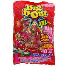 Big Bom Lollipop Strawberry Xxl 48x25g