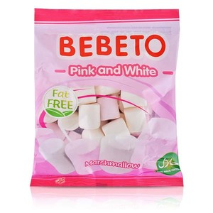 Bebeto Marshmallow Pink And White 190g