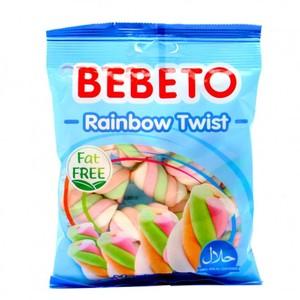 Bebeto Marshmallow Rainbow Twist 60g