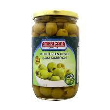 Americana Pitted Olives Green 335g