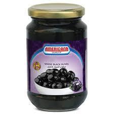 Americana Whole Olives Black 335g