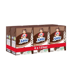 Safio Chocolate Flavor UHT Milk 6x125ml