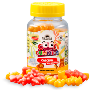 Sunshine Nutrition Cool Gummies Calcium With Vitamin D3 60s