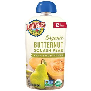 Earth's Best Organic Butternut Squash & Pear Baby Food Puree 6+ Months Non Gmo 113g