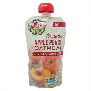 Earth's Best Organic Puree Apple Peach Oatmeal 120g