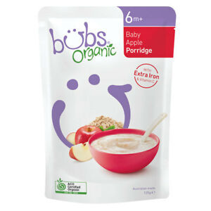 Organic Bubs Baby Porridge Apple 125g