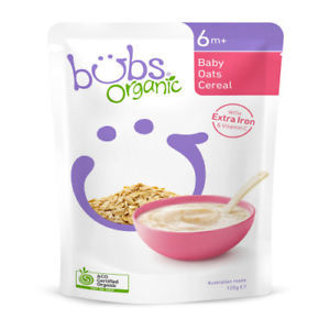 Organic Bubs Baby Oats Cereal 125g